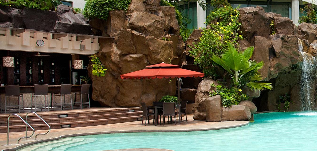 Diamond Hotel - Poolside Bar  - Best Hotel Manila