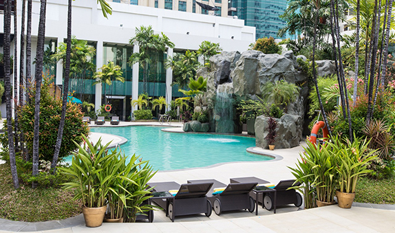Diamond Hotel - Swimming Pool  - List Of 5 Star Hotels In Manila