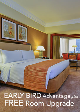 <p><strong>Early Bird Advantage plus FREE Room Upgrade</strong></p> 				<ul> 			<li><span>&rsaquo; &nbsp;</span>Book 7 days in advance and get 30% off plus FREE Room Upgrade.</li> 			<li><span>&rsaquo; &nbsp;</span>Guaranteed room upgrade to a Deluxe Pool view when you book a Deluxe Room.</li> 					 			<li><span>&rsaquo; &nbsp;</span>All bookings are non-refundable.</li> 			<li><span>&rsaquo; &nbsp;</span>Offer is subject to availability.</li> 					<br> 					<li><b>Valid until October 31, 2016</b></li> 				</ul>