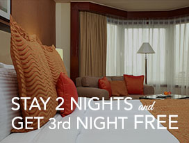 <p><strong>Stay 2 nights and Get 3rd night FREE</strong></p> 				<ul> 					  			<li><span>&rsaquo; &nbsp;</span> With buffet breakfast for 2 persons, unlimited Wifi access up to 2 devices and third night FREE is with breakfast.</li> 					 					<li><b>Valid until October 31, 2016</b></li> 				</ul>