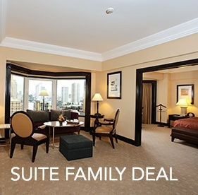<p><strong>Suite Family Deal</strong></p><small>(for Local Residents only)</small> 			<ul> 				<li><span>&rsaquo; &nbsp;</span> Buffet Breakfast for 2 persons and unlimited free Wifi access up to 2 devices</li>  				<br> 				<li><b>Valid until Sept 30,2016 </b></li> 			</ul>