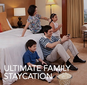<p><strong>Ultimate Family Staycation</strong></p><small>(for Local Residents only)</small> 				<ul> 					<li><span>&rsaquo; &nbsp;</span> Buffet Breakfast for 2 persons and unlimited Wifi access up to 3 devices </li>  					<br> 					<li><b>Valid until Sept 30, 2016</b></li> 				</ul>